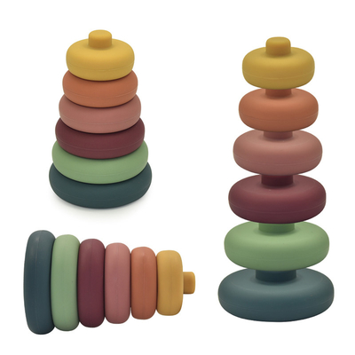 Educational Funring Mixed Color Montessori Baby Stacking Toy