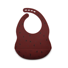 Washable Feeding satin touch Baby Silicone Bib Adjustable Neck Strap