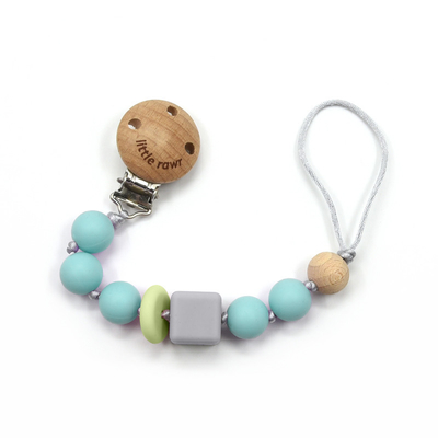Soother Pacifier Clips Leash FSC Baby Silicone Beads For Infant Nipple